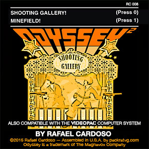 Shooting Gallery / Minefield for the Odyssey2 and Videopac